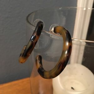 Ann Taylor LOFT Acrylic Tortoise Hoop Earrings